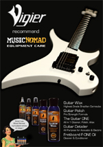 Vigier Guitars cleans up with MusicNomad Equipment Care